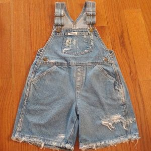 Vintage Guess Distressed Jean Shorts Overall Kid 4